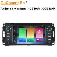 Buy cheap Ouchuangbo car radio multi media android 8.0 for Chrysler Gran Voyager del 2010 with mirror linksteering wheel control from wholesalers