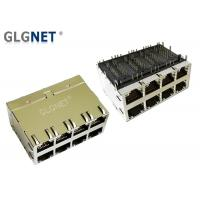 """Wholesale 2 x 4 Stacked 10G Ethernet Port Rj45 Connector 30 U"""" Gold Plating from china suppliers"""