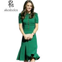 Wholesale Short Sleeve O Neck Mermaid Women'S Casual Dresses Princess Kate Middleton Dress from china suppliers