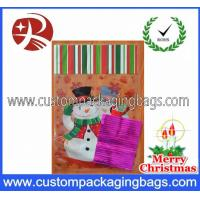 Wholesale Christmas Cellophane Plastic Treat Bags Recyclable With Snowman Printed from china suppliers