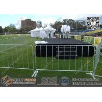 Buy cheap 1.1X2.5m Crowd Control Barriers | O.D32mm pipe frame | O.D20mm vertical tube from wholesalers