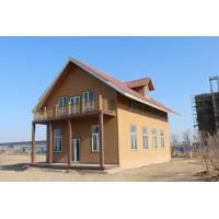 Wholesale WPC Ecology Prefab Villa With Light Gauge Frame , Wood Plastic Composite Material from china suppliers
