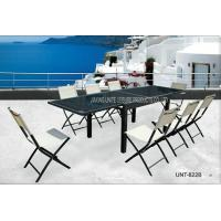Wholesale Outside Garden Patio Furniture Dining Sets With Foldable Chair 8 Seater from china suppliers