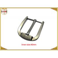 Wholesale Custom Silver Plated Zinc Alloy Belt Buckle Environmentally Friendly from china suppliers
