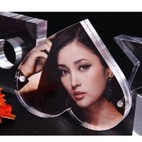 Wholesale Beautiful acrylic photo frame,heart shape love photo frame,curved acrylic photo picture fr from china suppliers