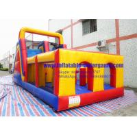Wholesale Toddler Funny Obstacle Course Bouncy Castles High Performance Red Yellow Color from china suppliers