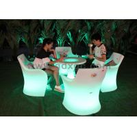 Wholesale LED Ottoman Cube Coffee Shop Chair , Polyethylene Led Furniture Chair from china suppliers