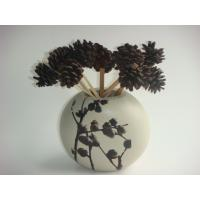 Wholesale Antique Imitation Ball Wooden Harvest Decorative Flower Vase With Acorn Design from china suppliers