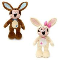 Wholesale Customized Stuffed Animals Easter Mickey Mouse Bunny Plush Toys in Brown / Off white from china suppliers