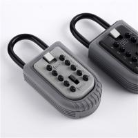 Wholesale Economic 10 Push Button Metal Key Lock Box Portable With Light Grey Cap from china suppliers
