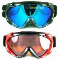 Wholesale Ski Goggles with TPU Soft Frame, Double-layer Polycarbonate Lens with Anti-fog and UV400 Protection from china suppliers