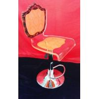 Wholesale Adjustable Orange Modern Acrylic Furniture / Acrylic Chair , Laser Engraved from china suppliers