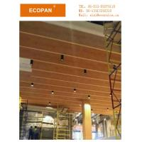 Buy cheap Acoustic Fiberglass Wood Grain Suspended Board Hotel Used Suspend Board from wholesalers