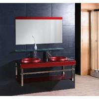 Wholesale Double Galss Washbasin Bathroom Vanity Cabinet (5158) from china suppliers
