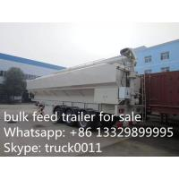 Wholesale factory sale CLW 3 axle 30ton feed tank trailer for farm, best price 40-50m3 farm-oriented animal feed tank semitrailer from china suppliers