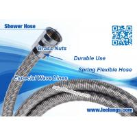 Quality Waving Dazzled Spring Flexible Shower Hose 1.5 m Stainless Steel With Brass Nuts for sale