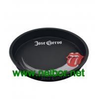 Wholesale Bar use or beer promotional use large round metal tin serving tray with custom Logo and graphic from china suppliers