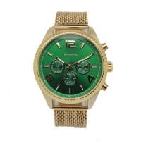 Wholesale Stainless Steel Mesh Band Alloy Wrist Watch Green Dial Elegant from china suppliers