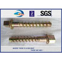 Wholesale 5.6 Grade 35# Railway Sleeper Screws Spikes Carbon Steel Coach Screws from china suppliers