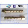Buy cheap 5.6 Grade 35# Railway Sleeper Screws Spikes Carbon Steel Coach Screws from wholesalers