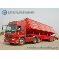Wholesale 12 m Length Semi Side Dump Trailer Heavy Duty 3 Aaxle 60 Ton from china suppliers