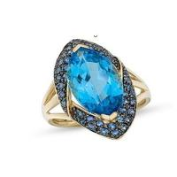 Wholesale Blue Topaz and Sapphire 14K Gold Ring from china suppliers
