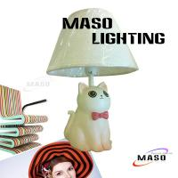 Wholesale Kitten Lamp MASO Lighting Resin Table Lamp E14 CE approval Base Replacable Light Bulb 3017 from china suppliers