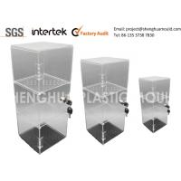 Wholesale China Inejction Molded Clear Plastic Display Shelving with Lock from china suppliers