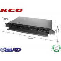 Quality Full Loaded 24 SC Ports Slide Type Fiber Optic Rack Mount Terminal Box KCO-Drawer 04-SC-24 for sale