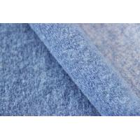 Wholesale Light Blue Wool Knitted Solid Color Fabric For Winter Coat 610G / M Weight from china suppliers