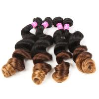 Wholesale Blonde 1b/4/27 3 Tone Remy Ombre Hair Extensions Brazilian Hair Loose Wave from china suppliers