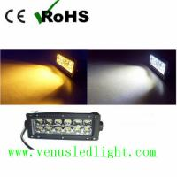 Wholesale dual color  yellow and white color swichback LED Work Light Bar Offroad Driving Truck UTE from china suppliers