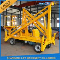 Wholesale Work Platform Trailer Mounted Boom Lift , 15m 200kgs Automatic Mobile Towable Boom Lift from china suppliers