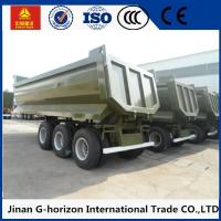 Wholesale High Strength 3 Axles 70 Tons Steel Hydraulic Rear End U shaped Dump Semi Trailer from china suppliers