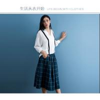 Wholesale cotton blue & white gingham dress fashionable n casual from china suppliers
