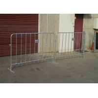Wholesale Electric Galvanized Temporary Fencing Crowd Control Barriers Metal Pedestrian Barriers from china suppliers