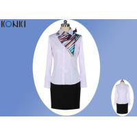 Wholesale Female Pink Corporate Office Uniform Shirts Business Office Clothing from china suppliers
