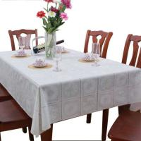 Wholesale White PVC Table Cloth Wipe Clean from china suppliers