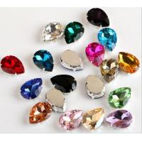 Wholesale rhinestone With Claw/Rhinestones Teardrop 13*18 Sew On Crystal stones from china suppliers