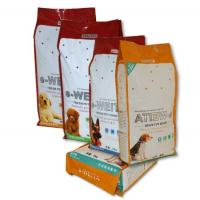 Wholesale Self Standing Fresh Pet Food Quad Seal Bags , Four Side Sealed Bags from china suppliers