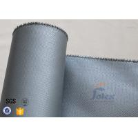 Wholesale Silicone Coated Fiberglass Fabric Fire Blanket Cloth 580gsm 0.55mm Grey Color from china suppliers