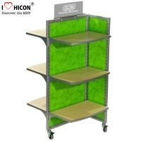 Wholesale Movable Floor Standing Retail Store Fixtures 3 - Way Wood Toy Display Shelves from china suppliers