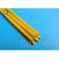 Wholesale H Class 2.5KV Yellow Silicone Fiberglass Sleeving Flexibility Flame Retarding Properties from china suppliers