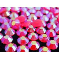 Wholesale florescent hot fix resin rhinestone for dress from china suppliers
