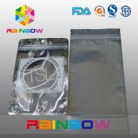 Wholesale Three Side Seal Front Transparent Back Foil Anti Static Bag With Zipper And Tear Notch from china suppliers