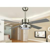 Wholesale 18W 52 Inch Contemporary LED Ceiling Fan Light Fixtures with Sand Nickel from china suppliers