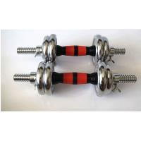 Wholesale 15kg -60kgcast iron sliver  chromed dumbbell export from china  factory from china suppliers