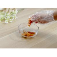 Quality Waterproof Disposable Plastic Gloves , Disposable Cooking Gloves Custom All Size for sale