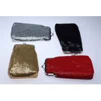 Wholesale Designer Cosmetic Bags and Cases Metal mesh aluminum clutch purses G2030 from china suppliers