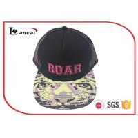 Wholesale Bright camouflage pink emb adjustable baseball caps for adults with cotton mix Material from china suppliers